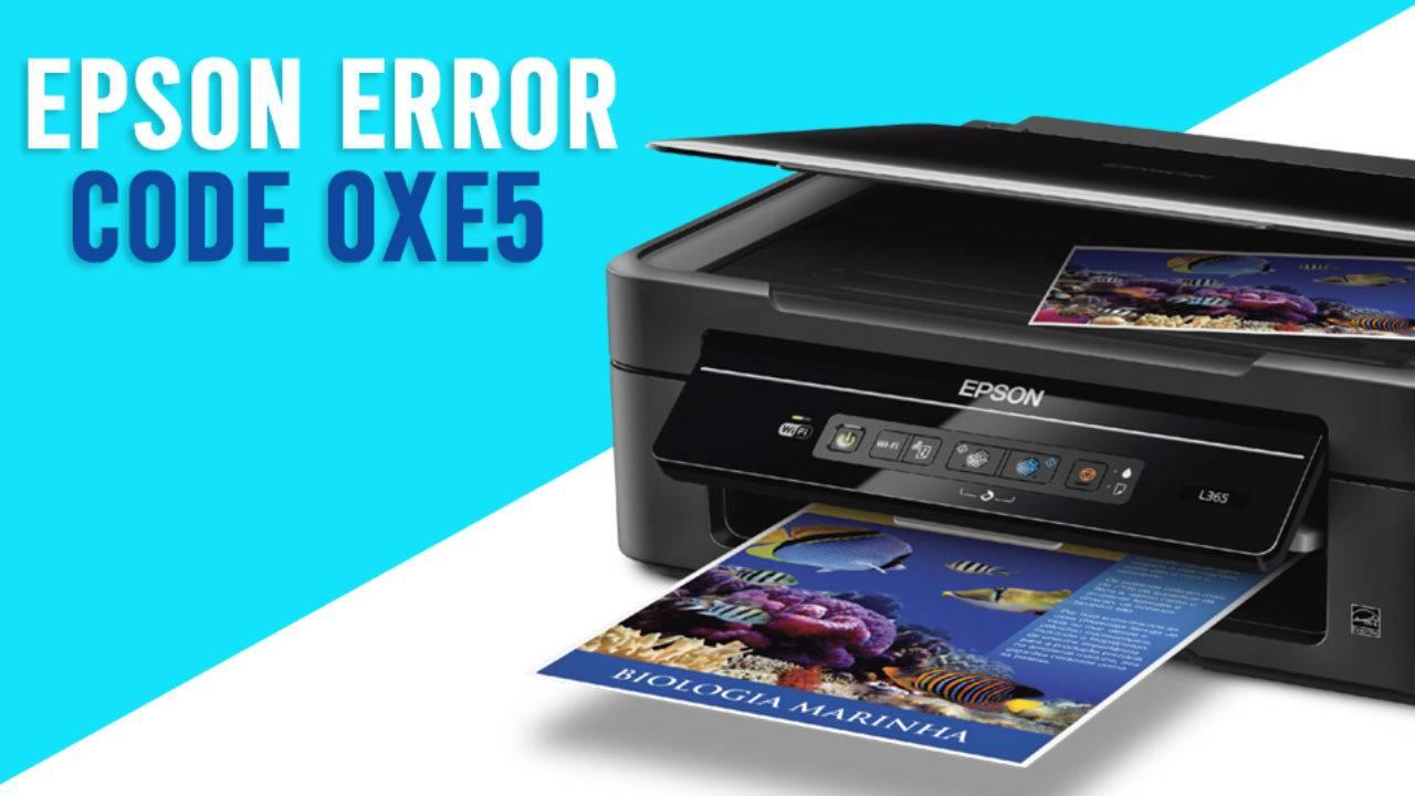 Epson Printer Error code 0xe5