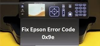 Epson Error Code 0x9e