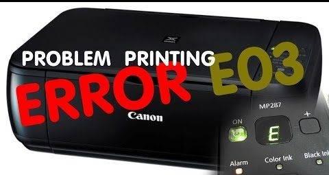canon mp287 error e03